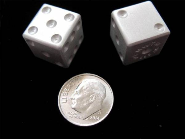 Buy Best 1 PAIR .999 CRAPS SILVER DICE 2-1oz EACH GAMING GAMBLING W/COA & POUCH + GOLD
