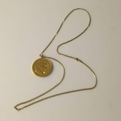 """1 oz. 24k Gold Growling Cougar Necklace Jewelry w/14k 20"""" curb chain"""