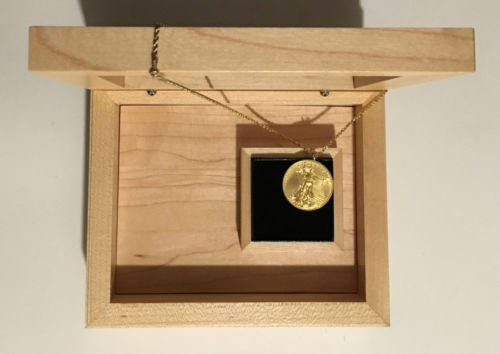"""Buy Best 1/2 oz. American Eagle gold coin jewelry: Necklace w/ 18"""" 14k Rope chain w/box!"""