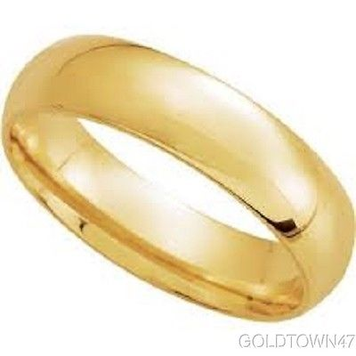 14K Yellow Gold  3mm 4mm 5mm Comfort Fit Men Or Women Wedding Band Ring