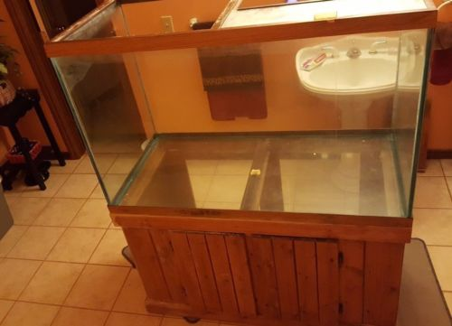 Buy Best 150 gal. AQUARIUM fish tank NEEDS RESEALED reptile plants with cabnet TERRARIUM