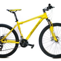 "17"" Sundeal M1 26"" Hardtail Mountain Bike Disc Shimano 3x7 MSRP $349 Yellow NEW"