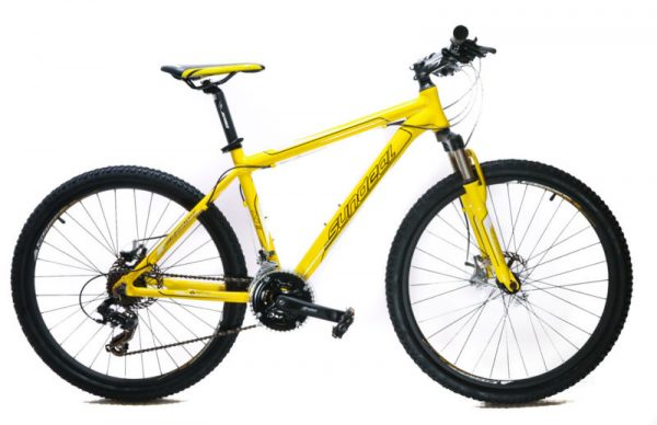"""Buy Best 17"""" Sundeal M1 26"""" Hardtail Mountain Bike Disc Shimano 3x7 MSRP $349 Yellow NEW"""