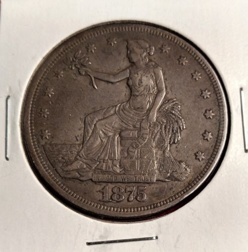 """Buy Best 1875-CC TRADE DOLLAR """"CARSON CITY"""" STRONG XF+ (NOT CLEANED)"""