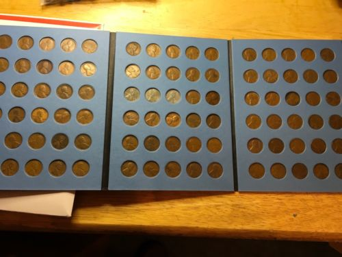 1909 - 1958 Lincoln Cent Set; Wheatback.; PDS; Circ. In Coin Folders!!With 22D