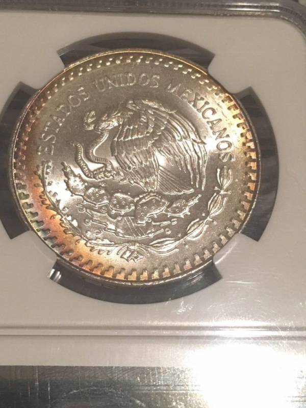 Buy Best 1988 Silver Onza NGC MS65 Natural Toning! A Beauty, Libertad 2 Sided Toner