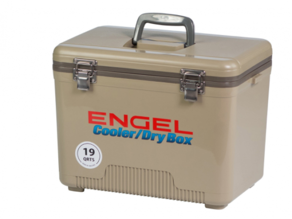 19qt Engel Cooler Dry Box UC19 Tan 19Quart Shoulder Strap and TRAY Included FREE