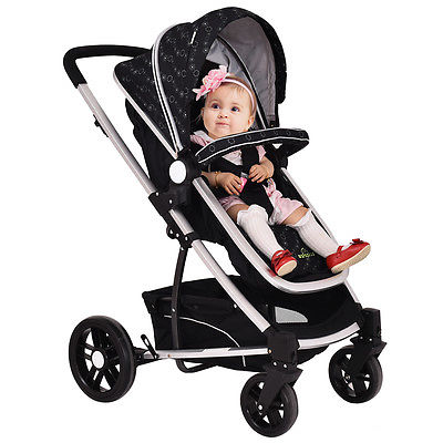 Buy Best 2 In 1 Foldable Baby Stroller Kids Travel Newborn Infant Buggy Pushchair Black