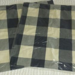 "Buy Best 2 Pottery Barn BUFFALO CHECK PLAID Pillow Covers 24""  Sailor Blue Christmas NWT!"