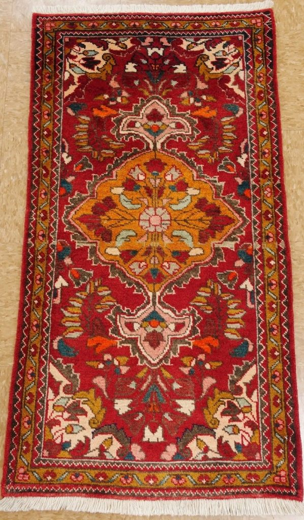 Buy Best 2 x 4 PERSIAN HAMEDAN Tribal Hand Knotted Wool RED YELLOW Oriental Rug