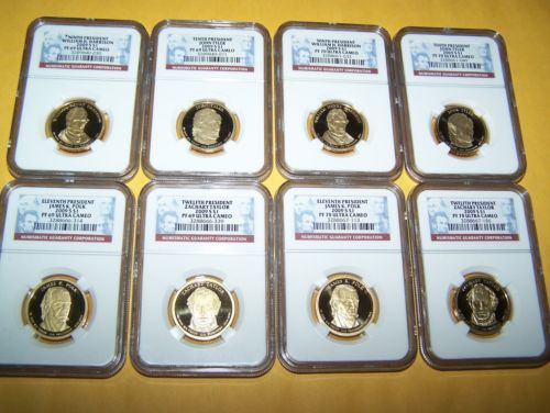 Buy Best 2009-S $ 1 PRESIDENTIAL DOLLAR SET 4 COIN NGC PF69 ULTRA CAMEO & 4 COIN SET NGC