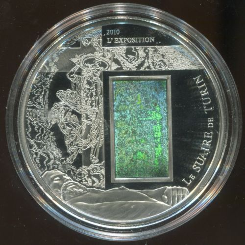 Buy Best 2010 Camaroon 1000 Francs Silver Proof Shroud of Turin with Hologram