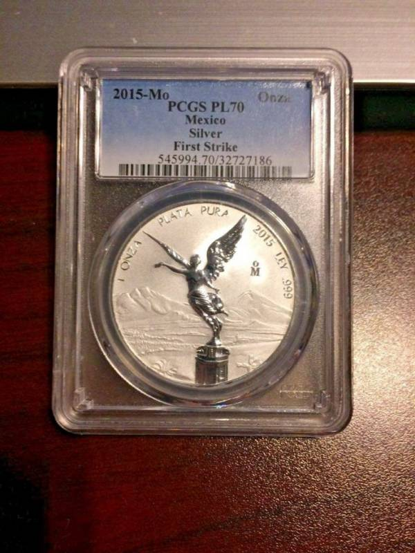 2015 Mexico Reverse Proof Libertad PCGS PL70 First Strike