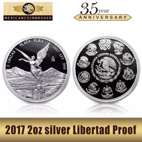 Buy Best 2017 2oz Silver Libertad Proof  *Treasure Coin of Mexico™