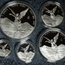 Buy Best 2017 Mexico 5 coin Libertad Silver Proof Set, no  COA  or box, 1-1/20 oz proofs