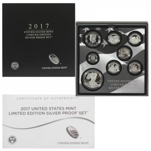 Buy Best 2017 S PROOF SILVER EAGLE LIMITED EDITION PROOF SET IN OGP SHIPS SAME DAY 17RC
