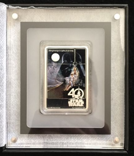 Buy Best 2017 Star Wars 40th Anniversary Poster 1oz Silver Coin w/OGP