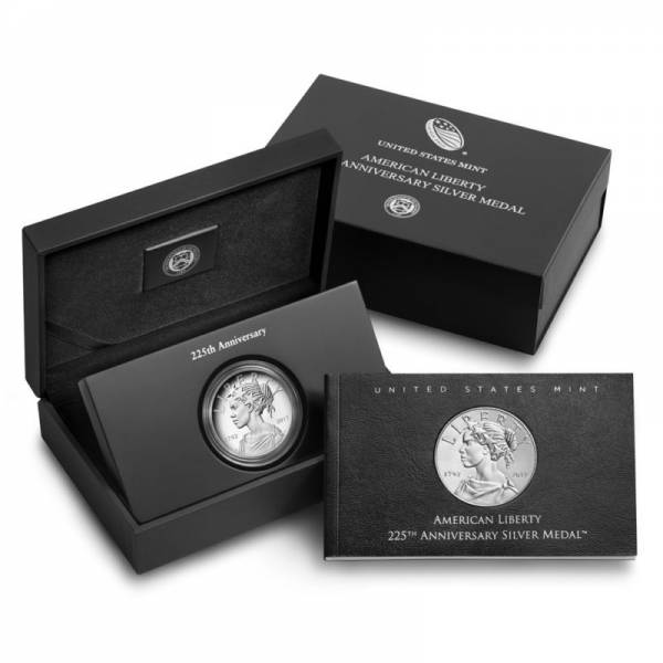 2017 US 225th Anniversary American Liberty Silver Medal Proof (17XB)