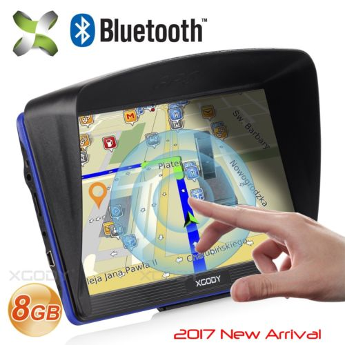 "2017 XGODY 7"" Portable Car GPS Navigation Capacitive Screen With Free All US Map"