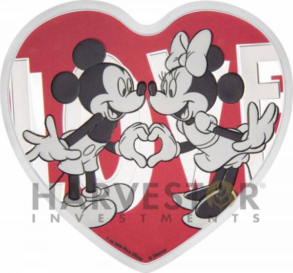 Buy Best 2018 DISNEY LOVE COIN - HEART SHAPED COIN - MICKEY & MINNIE MOUSE - SILVER W/OGP