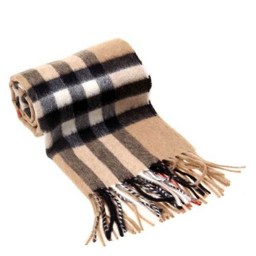 Buy Best 2018 NEW!Brown Burberry The Classic Check Cashmere Scarf Brand New