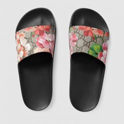 Buy Best 2018 NWT Gucci Women's Blooms slide sandal GG Supreme Canvas Size US6-11