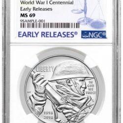 2018-P WWI Centennial Commemorative Silver Dollar NGC MS69 ER PRESALE SKU52034