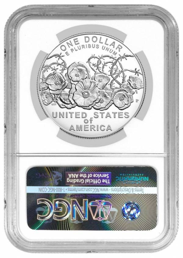 2018-P WWI Centennial Commemorative Silver Dollar NGC PF69 UC ER PRESLE SKU52032