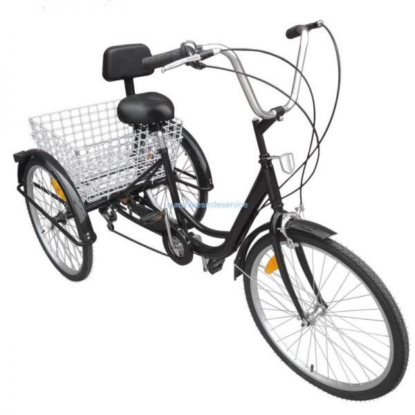 """Buy Best 24"""" Adult 3 Wheel Bicycle Bike Tricycle 6 Speed Basket Cruiser Beach Trike"""