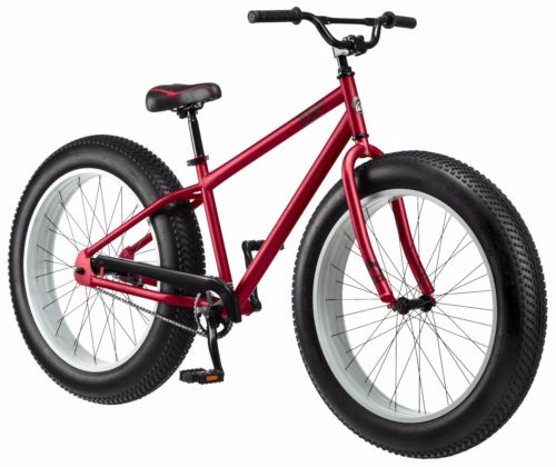 "26"" Mongoose Beast Men's Fat Tire Bike, Red"