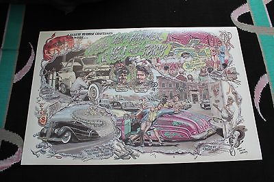 Buy Best 2'x3' Poster A DEVIL WITH A HAMMER Car Art Hot Rod Ford Model Robert Williams