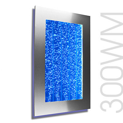 "30"" Bubble Wall Mount Aquarium LED Lighting Indoor Panel Water Feature Fountain"