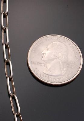 30 inch HANDMADE Silver Link Chain Necklace by Sally Shurley - 7J27F