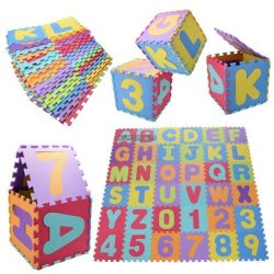36Pcs Baby Children Kids Play Mats Alphabet Number Soft Foam Floor Mat Puzzle