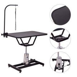 "36""x24"" Heavy Duty Hydraulic Pet Dog Cat Grooming Table w/Adjustable Arm Noose"
