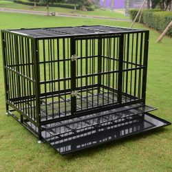 """Buy Best 37""""/42""""/48"""" Heavy Duty Rolling Dog Crate Kennel Pet Cage House w/ Castor & Tray"""