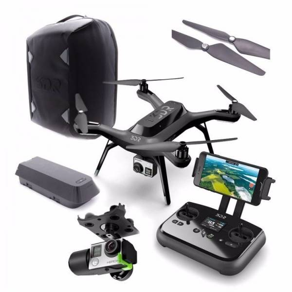 3DR Solo Drone Quadcopter for GoPro Hero w/ Gimbal & Backpack - SA11A - NEW