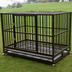 """Buy Best 3XL 48"""" Dog Crate Kennel Heavy Duty Pet Cage Playpen w/ Metal Tray Exercise Pan"""