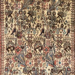 3x10 PERSIAN RUNNER RUG HAND KNOTTED IRAN RUGS IVORY beige ANTIQUE WOOL 3x9 3x11
