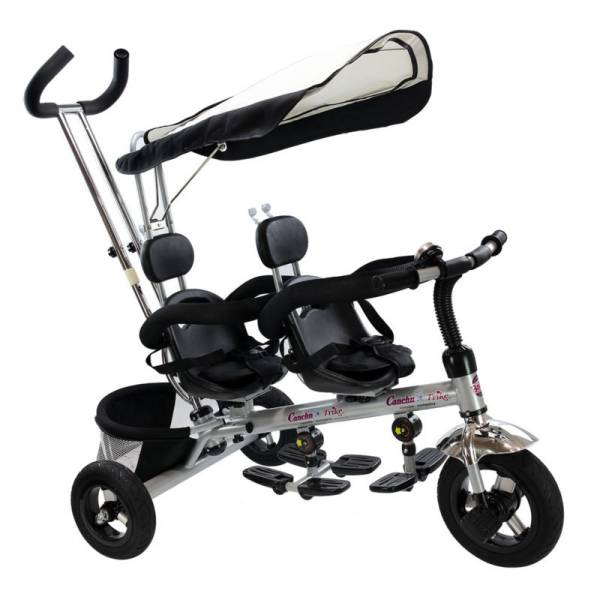 Buy Best 4 In 1 Twins Kids Baby Stroller Tricycle Safety Double Rotatable Seat w/ Basket