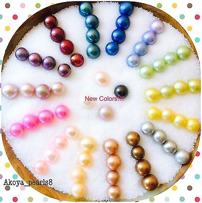 40 Single 25 Twin Oysters W Pearls:RAINBOW Mix 6-8 mm(private)