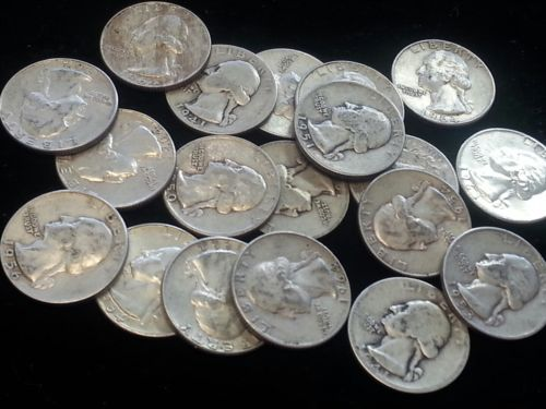 Buy Best $5 Face Value 90% Silver Washington Quarters!  Junk silver!  20 Coins!