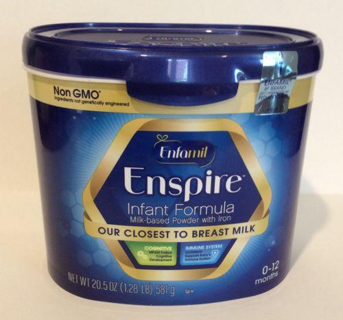 (5) Tubs of Enfamil ENSPIRE Non-GMO Formula (20.5oz ea- 102.5 total) EXP 10/2018