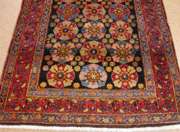 Buy Best 5 x 8 Antique PERSIAN KURDISH Tribal Hand Knotted Wool NAVY RED Oriental Rug