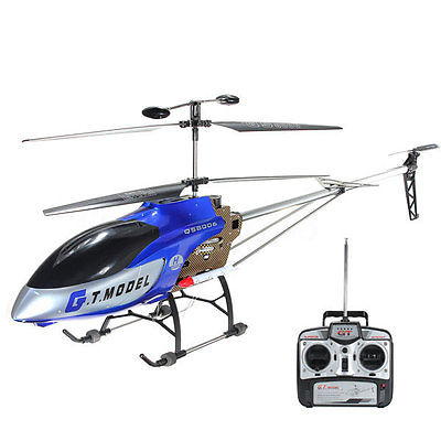 53 Inch Extra Large GT QS8006 2 Speed 3.5 Ch RC Helicopter Builtin GYRO Blue US
