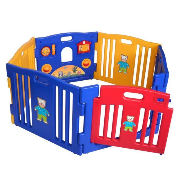 6 Panel Baby Playpen Safety Play Center Yard Home Indoor Outdoor Pen