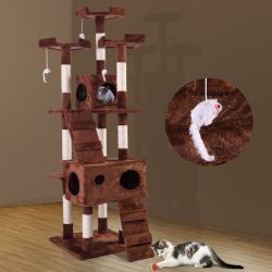 """Buy Best 67"""" Pet Cat Tree Play House Tower Condo Bed Scratch Post Toy Balls Coffee"""