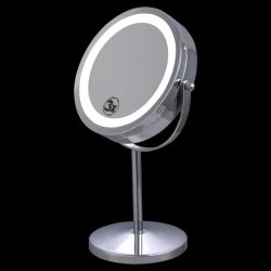 "7"" Double-Sided Makeup Mirror 18 LED Lights 3x Magnification Vanity Beauty"