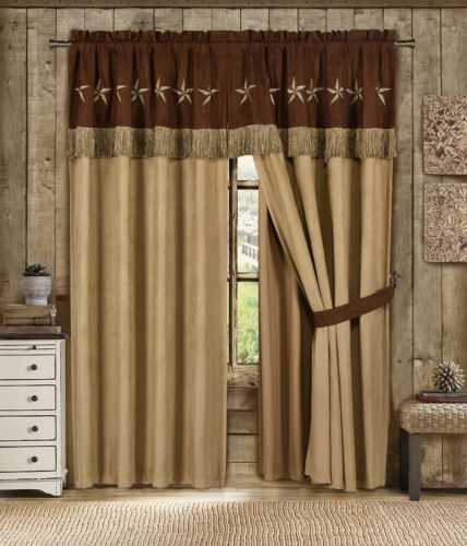 Buy Best 7pc Western Star Embroidery Microsuede Oversize Comforter Set or 4pc Curtain Set