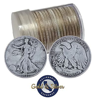 Buy Best 90% Silver Walking Liberty Half Dollars Roll of 20 - $10 Face Value (Circulated)